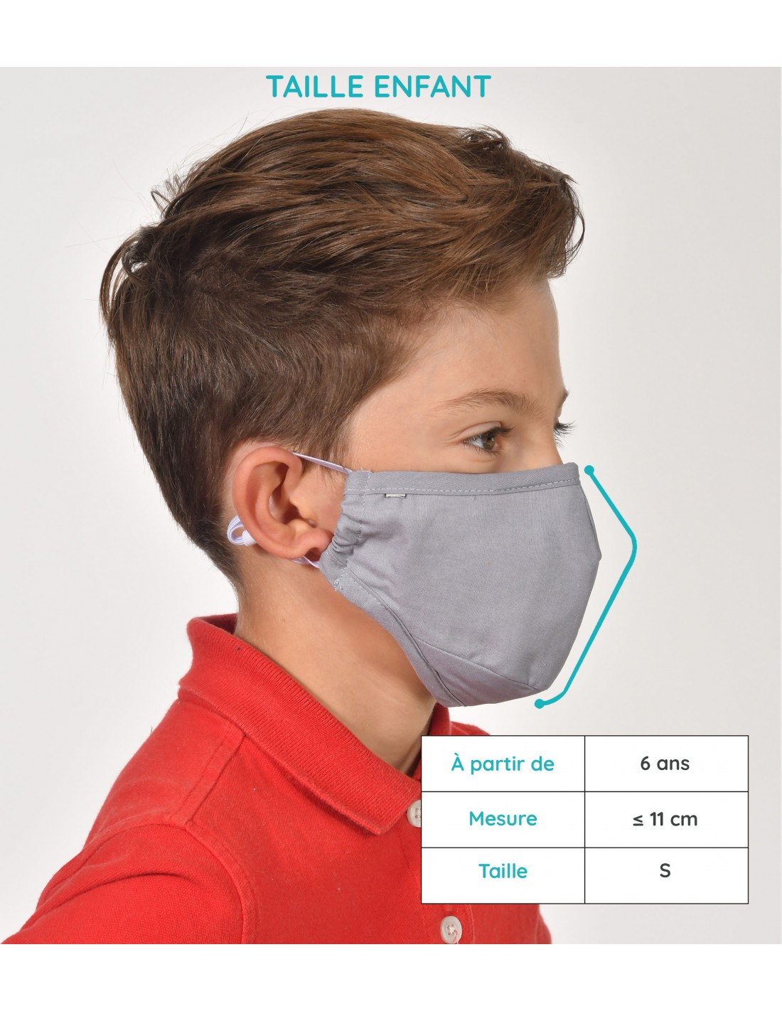 Taille Masque Enfant